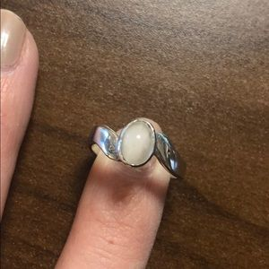 Jewelry - Sterling silver moon stone costume jewelry stone